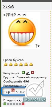 Выводим онлайн статус ICQ значком