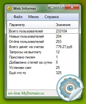 Web Informer (Bux Informer), ��������� ��� on-line ����������� �����